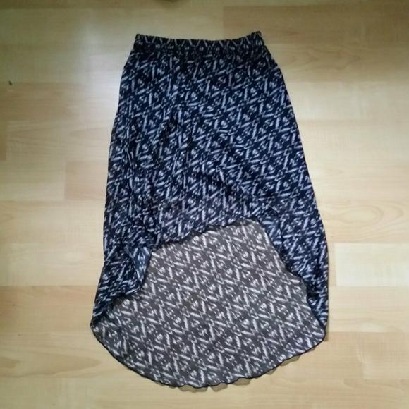 Summer high low, midi skirt